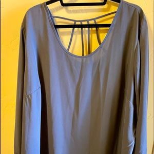Plus Size Charcoal Gray Blouse from Maurice's NWOT